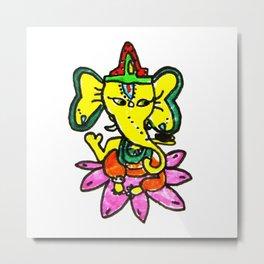 Ganesha by Elisavet Metal Print