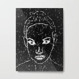 Woman in black Metal Print