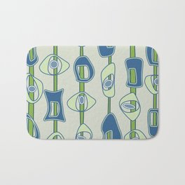 Mod Blobs in blue and greens Bath Mat