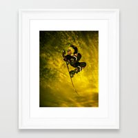 snowboarding Framed Art Prints featuring Snowboarding #1  by Bruce Stanfield