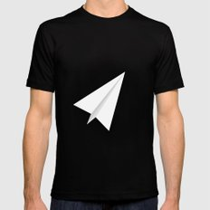 #38 Paperplane Mens Fitted Tee MEDIUM Black