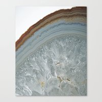 agate Canvas Prints featuring Agate by CAROL HU