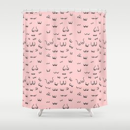 Pink Boob Print / Free the Nipple / Breast Cancer Awareness  Shower Curtain