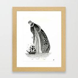 Gothic Sea Goddss Framed Art Print