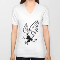 eagle V-neck T-shirts featuring Eagle  by ArtSchool