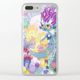 Anemone Mermaid Clear iPhone Case