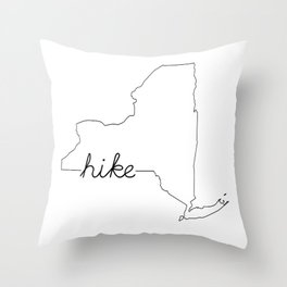 New York State HIKE Throw Pillow