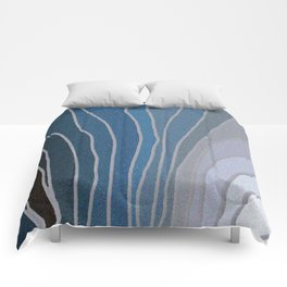 Flowing Blue Shapes Comforters