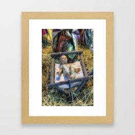 Away in a Manger Framed Art Print