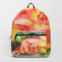 Helen's Lilies Watercolor Backpack