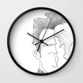 Big-haired Smoker #1 Wall Clock