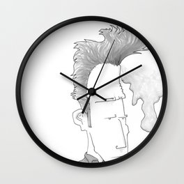 Big-haired Smoker #1 Wall Clock