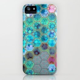 Onion cell hexagons iPhone Case