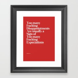 Disappointments Framed Art Print