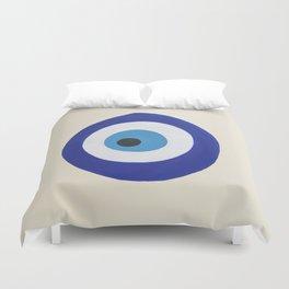 Blue Evil Eye Duvet Cover