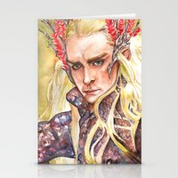 thranduil Stationery Cards featuring Thranduil by Giulia Colombo
