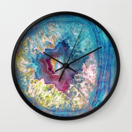 425 26 Abalone Geode Wall Clock