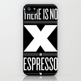 No X in Espresso – Dark Grey iPhone Case