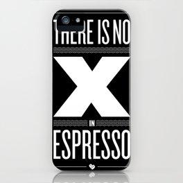 No X in Espresso – Dark Grey iPhone Case