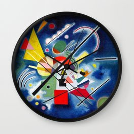 Wassily Kandinsky - Blue Painting - Abstract Art Wall Clock