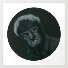 The Wolf Man on vinyl record print Art Print