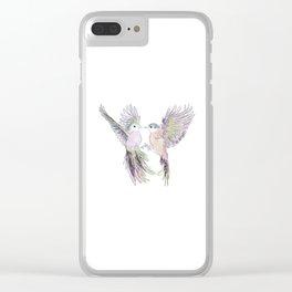 wedding birds, Birds of paradiese, Birds in love tropical bird home decor Clear iPhone Case