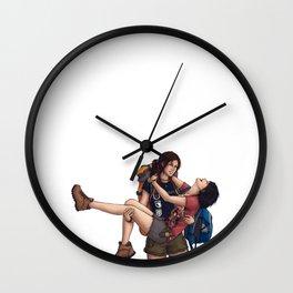 Lara and Sam's Adventures Wall Clock