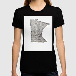 Old Map of Minnesota T-shirt
