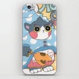 Aqua cat_Puno iPhone Skin