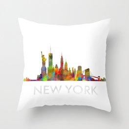 NY-New York Skyline HQ Throw Pillow