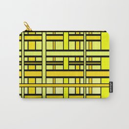 Yellow grid Carry-All Pouch