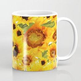 Wild yellow Sunflower Field Illustration Coffee Mug