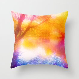 Wild, Mystic and Romance Landscape Throw Pillow