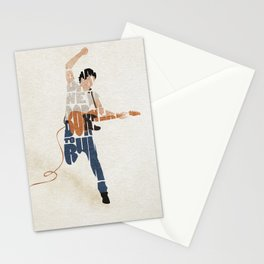 Typography Art of Boss of the Rock Bruce Frederick Springsteen Stationery Cards
