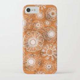 Fall flowers - orange iPhone Case