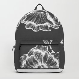 two white ink flowers Backpack