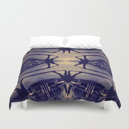 Trippin' Around Downtown Duvet Cover