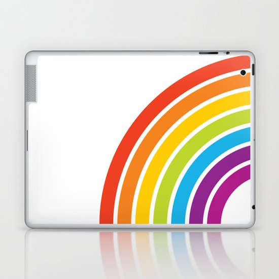 A Rainbow World Laptop & iPad Skin