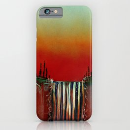 Cascade in Cantaloupe Colors iPhone Case