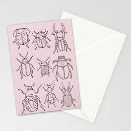 Beetles (Primrose Pink) Stationery Cards