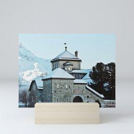 Silvaplana, Switzerland Landscape (Mountains) Mini Art Print