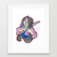 mulan Framed Art Prints featuring Mulan by Ashley Rowe
