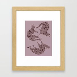 Big Cats - Pink Framed Art Print