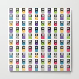 Gameboy Pattern Metal Print