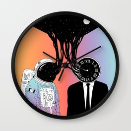 A Portrait of Space and Time ( A Study of Existence) Wall Clock