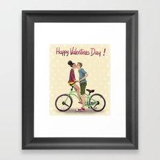 Happy Valentine's Day Framed Art Print