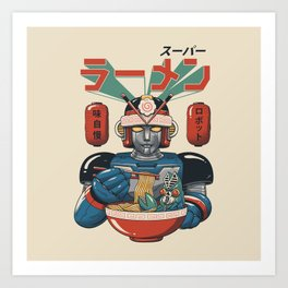 Super Ramen Bot Art Print