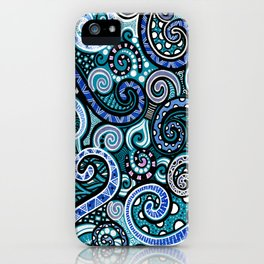 Loupy lou blu iPhone Case