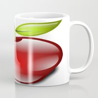 apple Mugs featuring APPLE by Acus