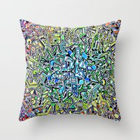 wasted rita Throw Pillows featuring Wasted by 2tehmax
